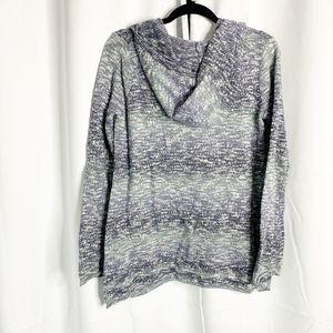 prana Tops - Prana XL blue striped hoodie hooded sweatshirt